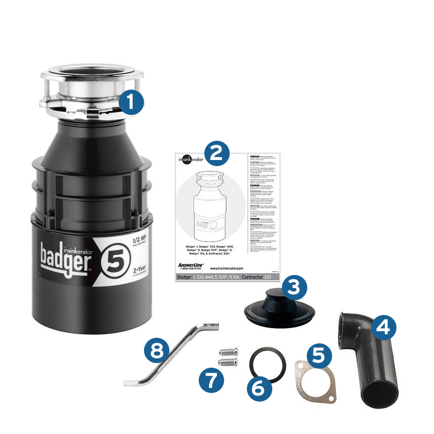 Insinkerator Garbage Disposal Badger 5 1 2 Hp Continuous