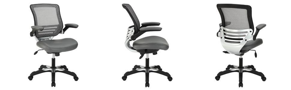 Office, Chair, Computer, Ergonomic, Cushion, Adjustable, Desk, Modern, White, Small, Support, Lumbar