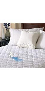 waterproof heated mattress pad Amazon.com: Sunbeam Heated Mattress Pad | Waterproof, 20 Heat  waterproof heated mattress pad