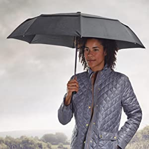 AmazonBasics Compact Automatic Travel Umbrella with Wind Vent
