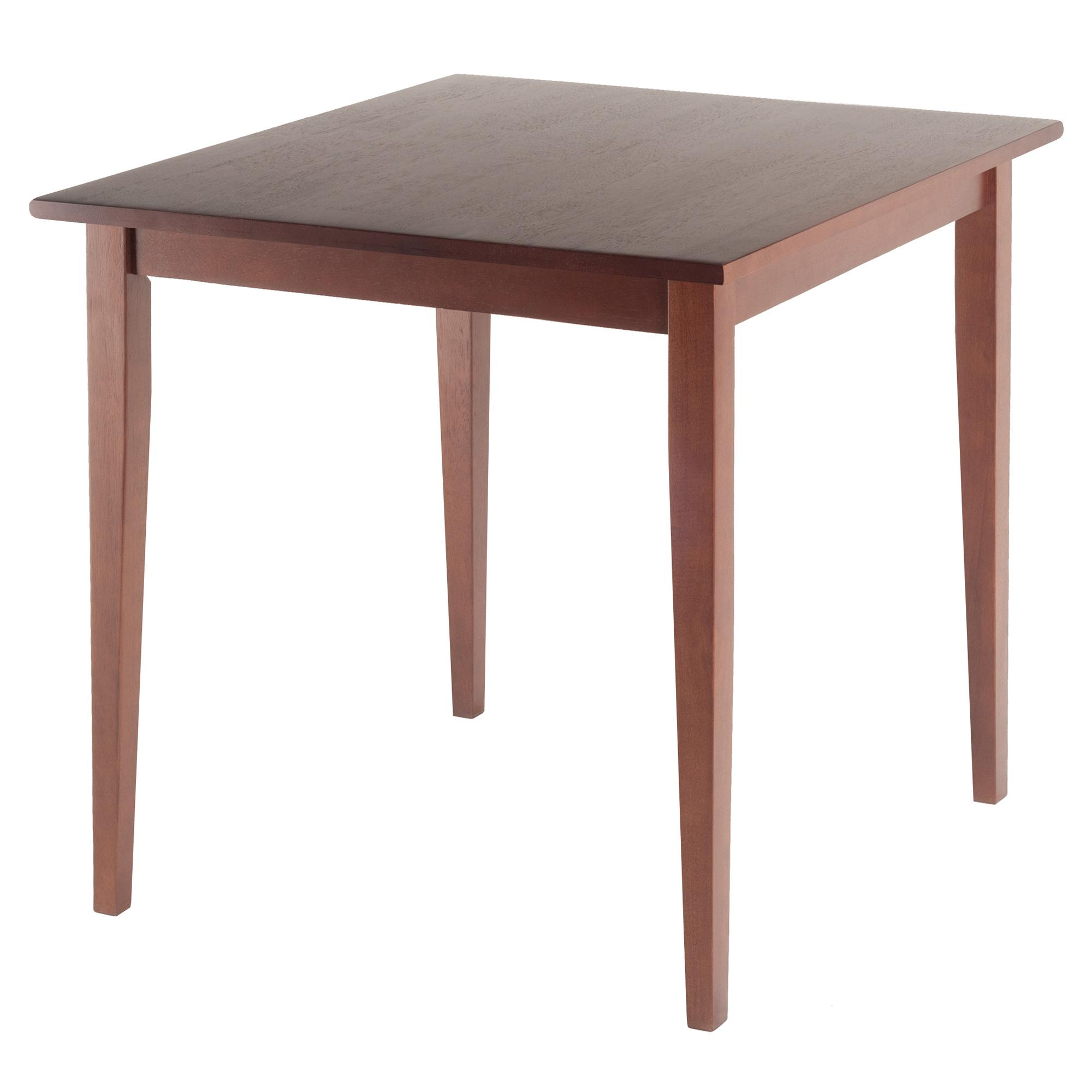 Winsome wood groveland square dining table in antique for One leg dining table