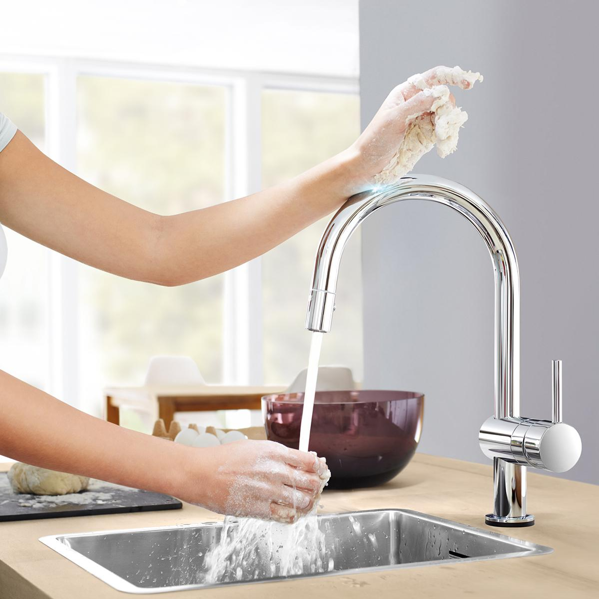 Grohe Kitchen Faucets Amazon Grohe 31359dc0 Minta Touch Activated Electronic Single