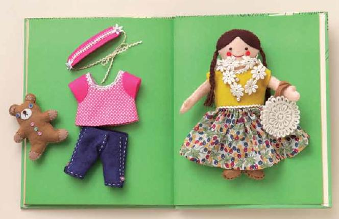 Make Felt Dolls and Their Fun Fashionable Wardrobes with Fabric Scraps and Easy Hand Sewing Sew Dolled Up