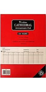 Collins A4 90 8S A4 8 Summary Columns Accountant Pad