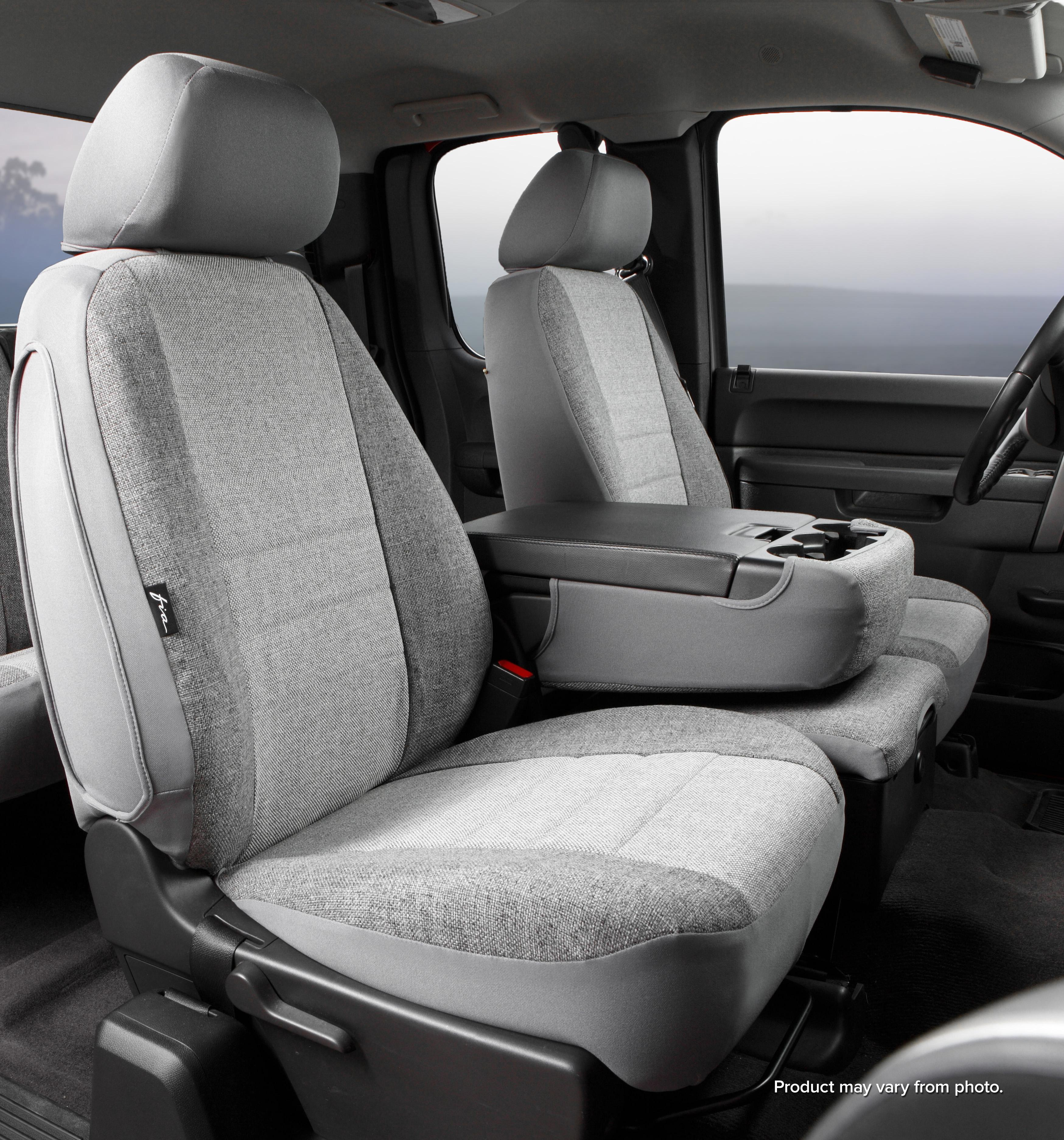 Fia TR47-65 GRAY Custom Fit Front Seat Cover Bucket Seats Gray Saddle Blanket,
