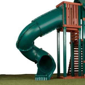 7 Ft Turbo Tube Slide For Kids Outdoor Play Set Climber Swingsets Playground Jungle Gyms