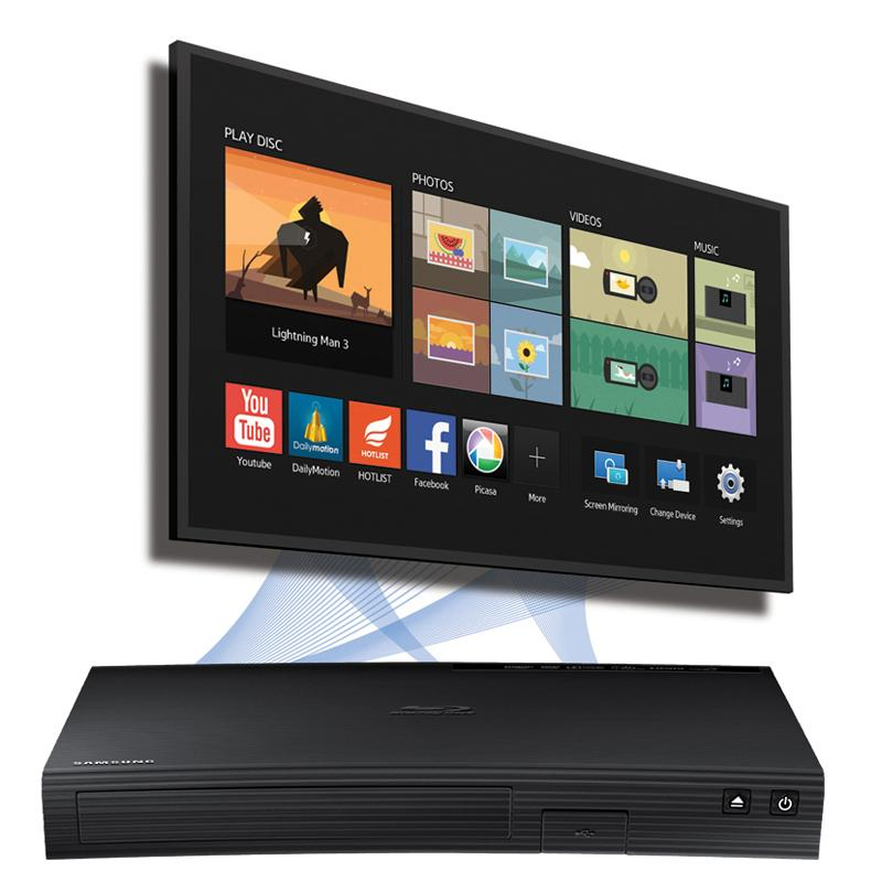 Samsung Curved Blu Ray Player with Wired Network Streaming Apps HDMI No Remote
