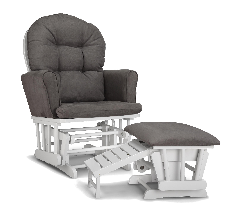 Graco Parker Semi Upholstered Glider and Nursing Ottoman White