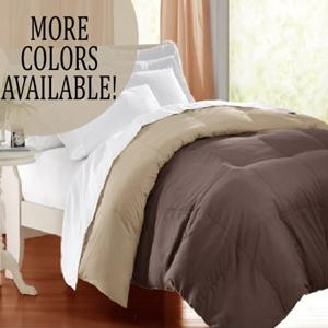 Full//Queen Size Fluffy Medium Weight Bedding for All Season Use Superior Reversible Down Alternative Comforter Warm Soft /& Hypoallergenic Ivory /& Sage HOME CITY INC COMFORTER F//Q REV-IS