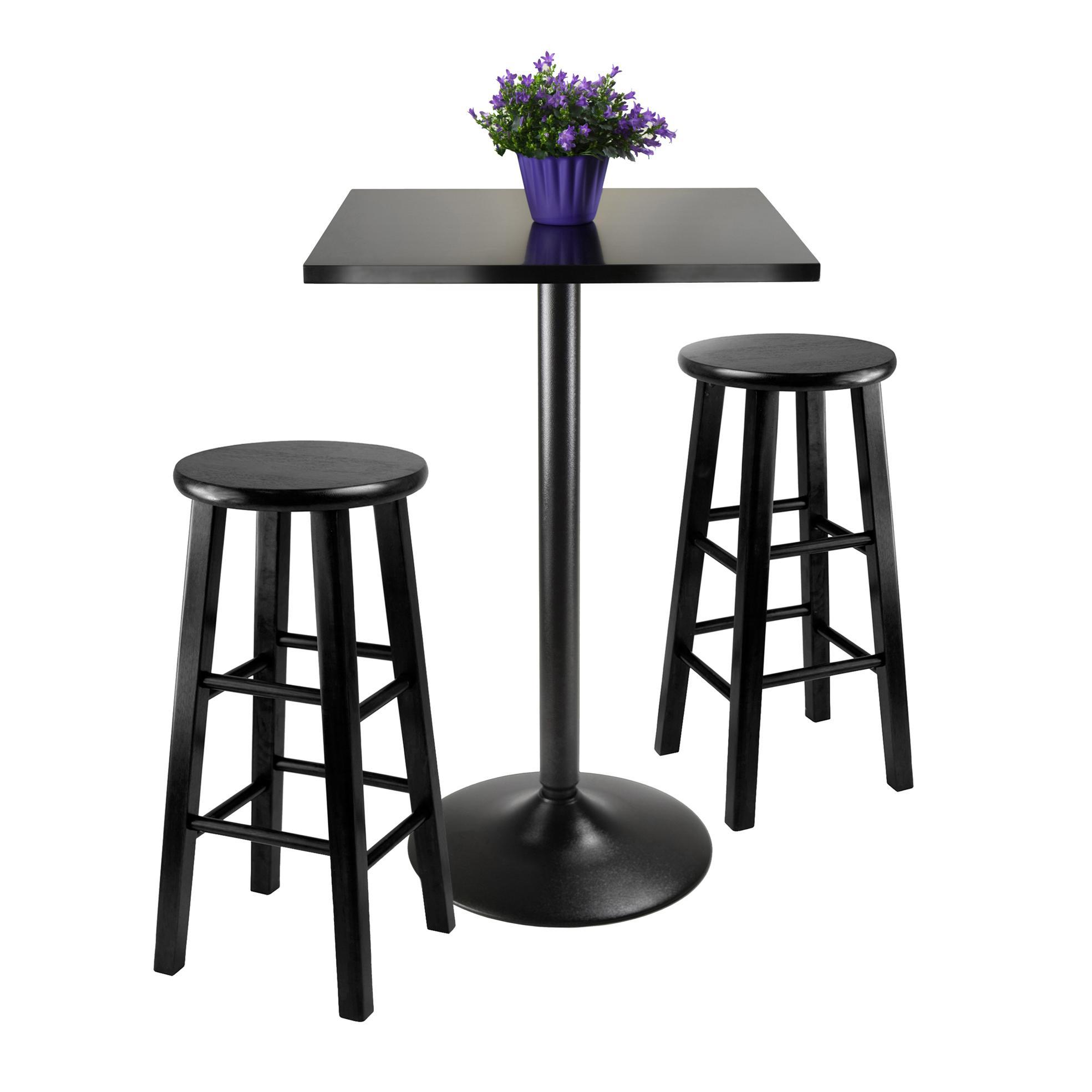 Winsome Obsidian 9-Piece Pub Table Set