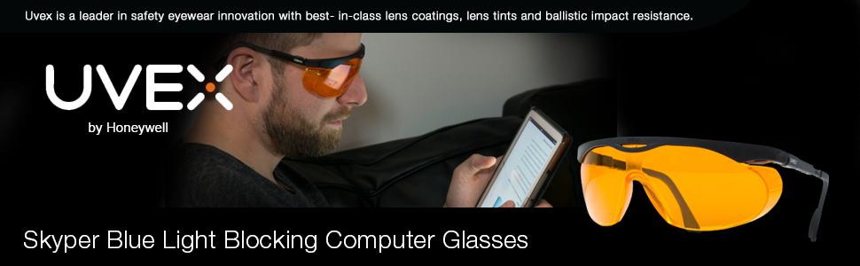 Uvex Skyper Blue Light Blocking Computer Glasses With Sct