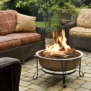 Amazon Com Cobraco Ftcopvint C Vintage Copper Fire Pit Outdoor Fireplace Garden Outdoor