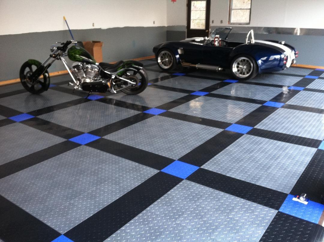 Lovely Vinyl Tile Garage Flooring