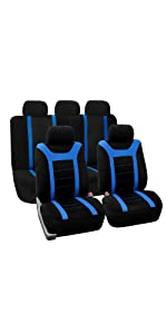 Semi-Universal Fabric Full Set Car Seat Cover Airbag Safe & Split Ready