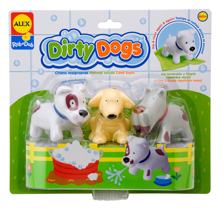 Amazon.com: Alex Rub a Dub Dirty Dogs Kids Bath Activity