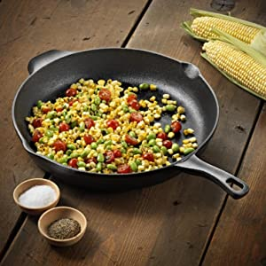 Calphalon Pre-Seasoned Cast Iron 12-inch Fry Pan - Verstaile Fry pan