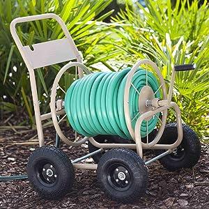 hose, cart, reel, garden