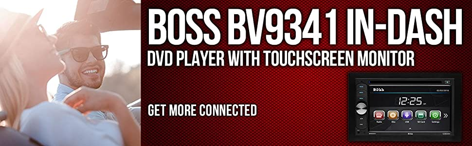 boss bv9341 double din 6 2 screen dvd cd mp3 am fm receiver from the manufacturer