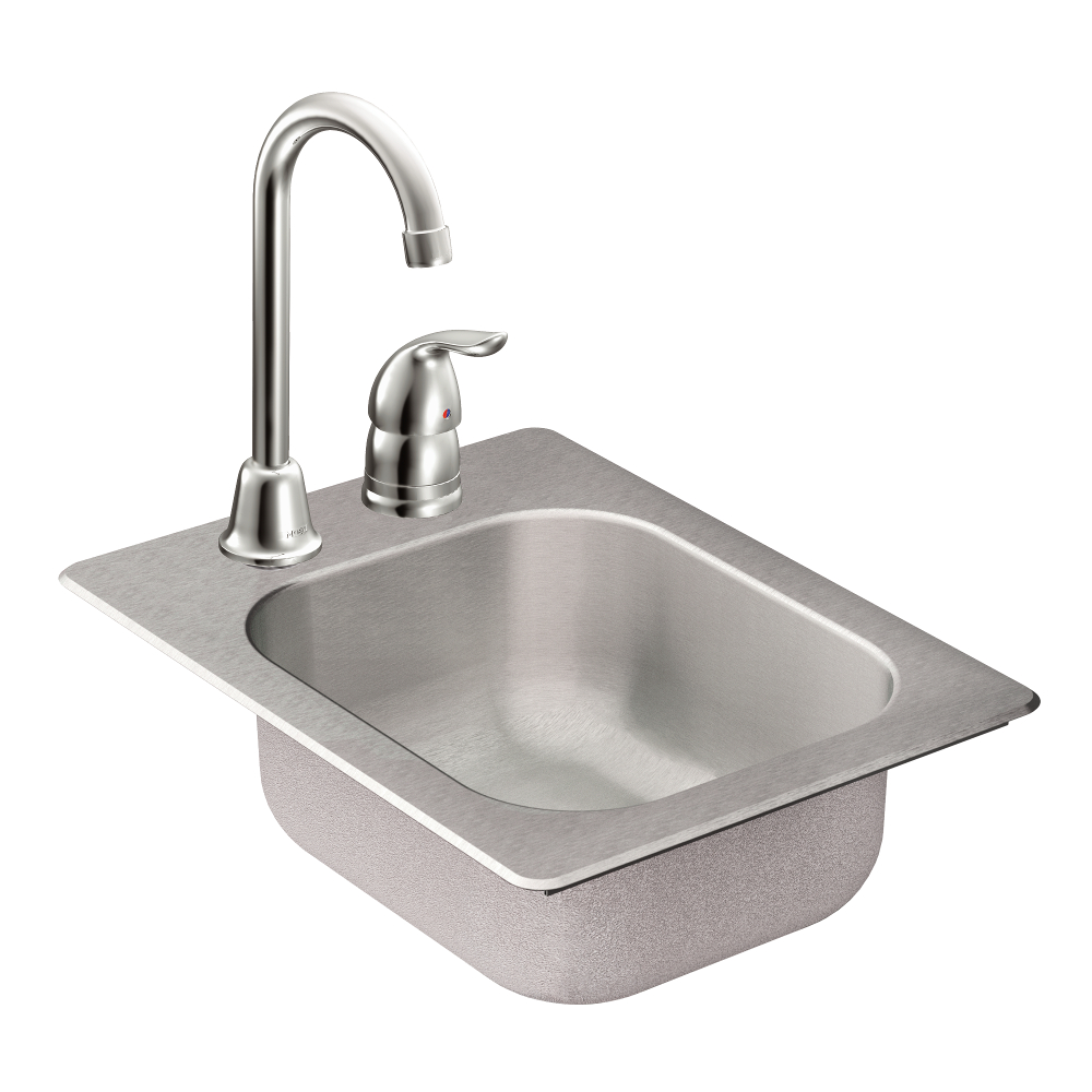 single bowl kitchen sink drop in moen tg2045522 2000 series 20 single bowl drop in 9304