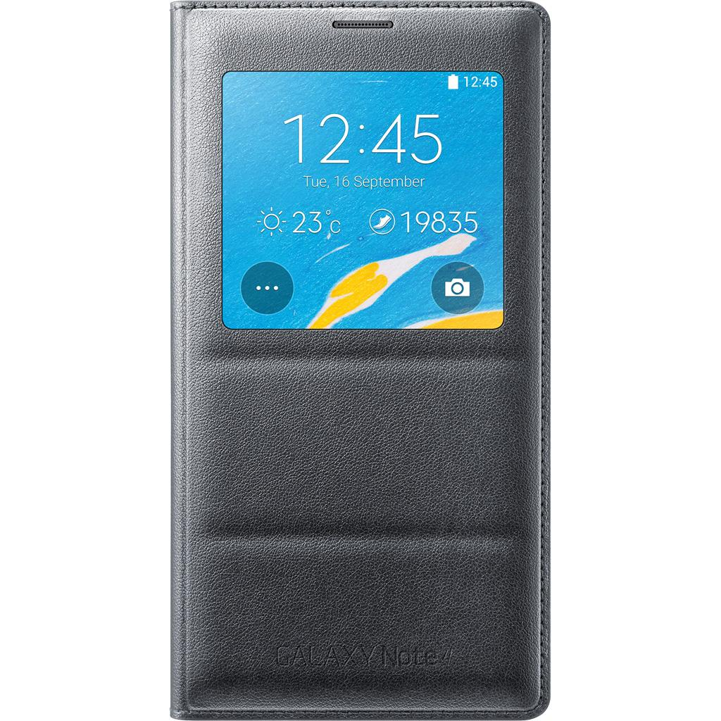 uk availability a0911 9e4ac Samsung Galaxy Note 4 Case, S View Flip Cover Folio Case - Charcoal Black