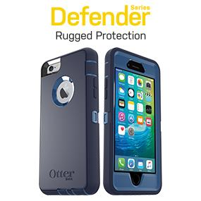 new style 6237b fa92b OtterBox DEFENDER iPhone 6/6s Case - Retail Packaging - GLACIER  (WHITE/GUNMETAL GREY)