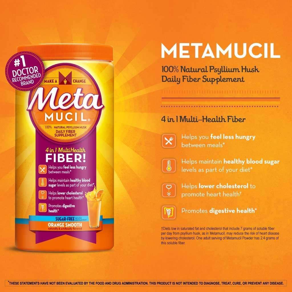 Metamucil Free And Natural Ingredients
