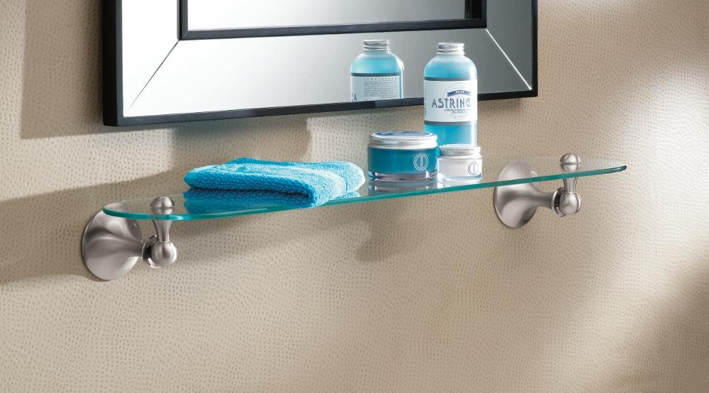 Amazon.com: Moen DN7790BN Lounge Bathroom Vanity Shelf, Brushed ...