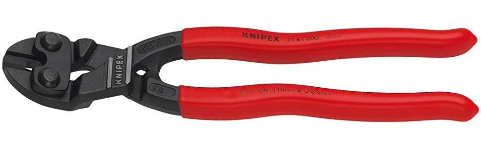 """Knipex 8/"""" High Leverage CoBolt Cutters 7101200 Cuts Cable Bolt Piano Wire Nail"""