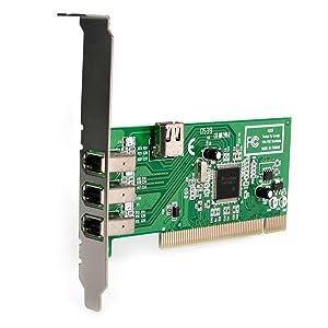 StarTech.com 4 port PCI 1394a FireWire Adapter Card - 3 External 1 Internal (PCI1394MP)
