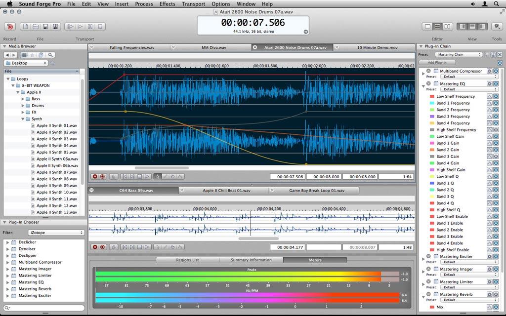 sound forge pro mac 2.0