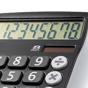 calculator, large digits, 8 digit, desktop calculator, large display