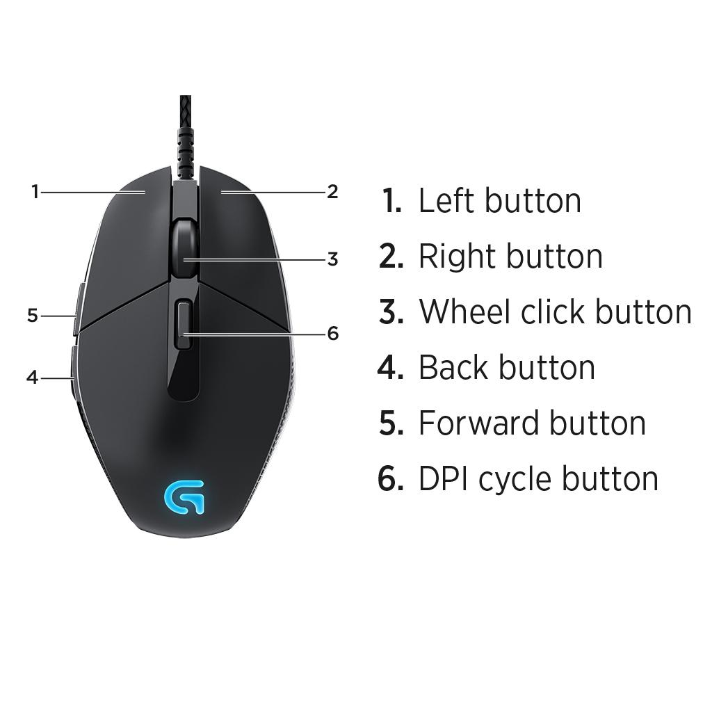 ce6c0d1b6fa Logitech G303 Daedalus Apex Performance Edition Gaming Mouse (910 ...