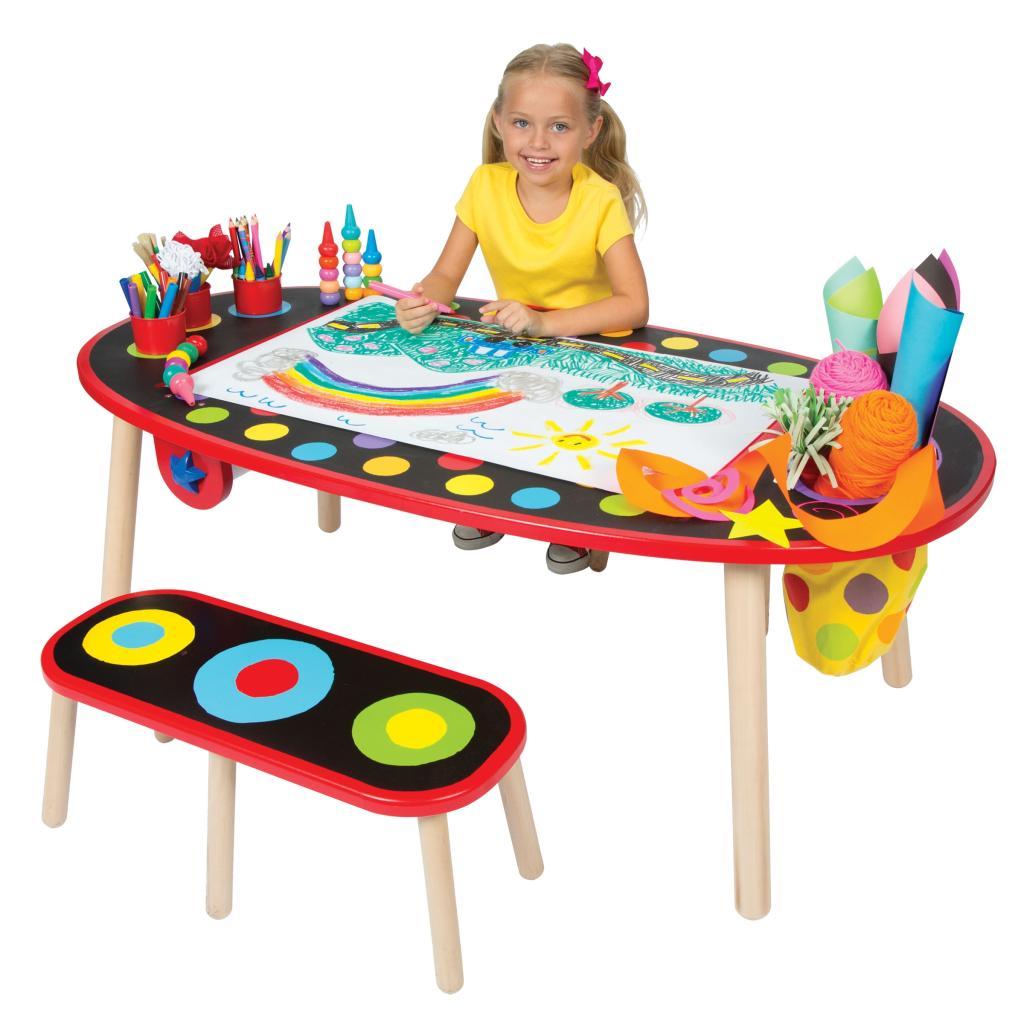 ALEX Toys - Young Artist Studio Super Art Table /W Paper Roll -Wood ...