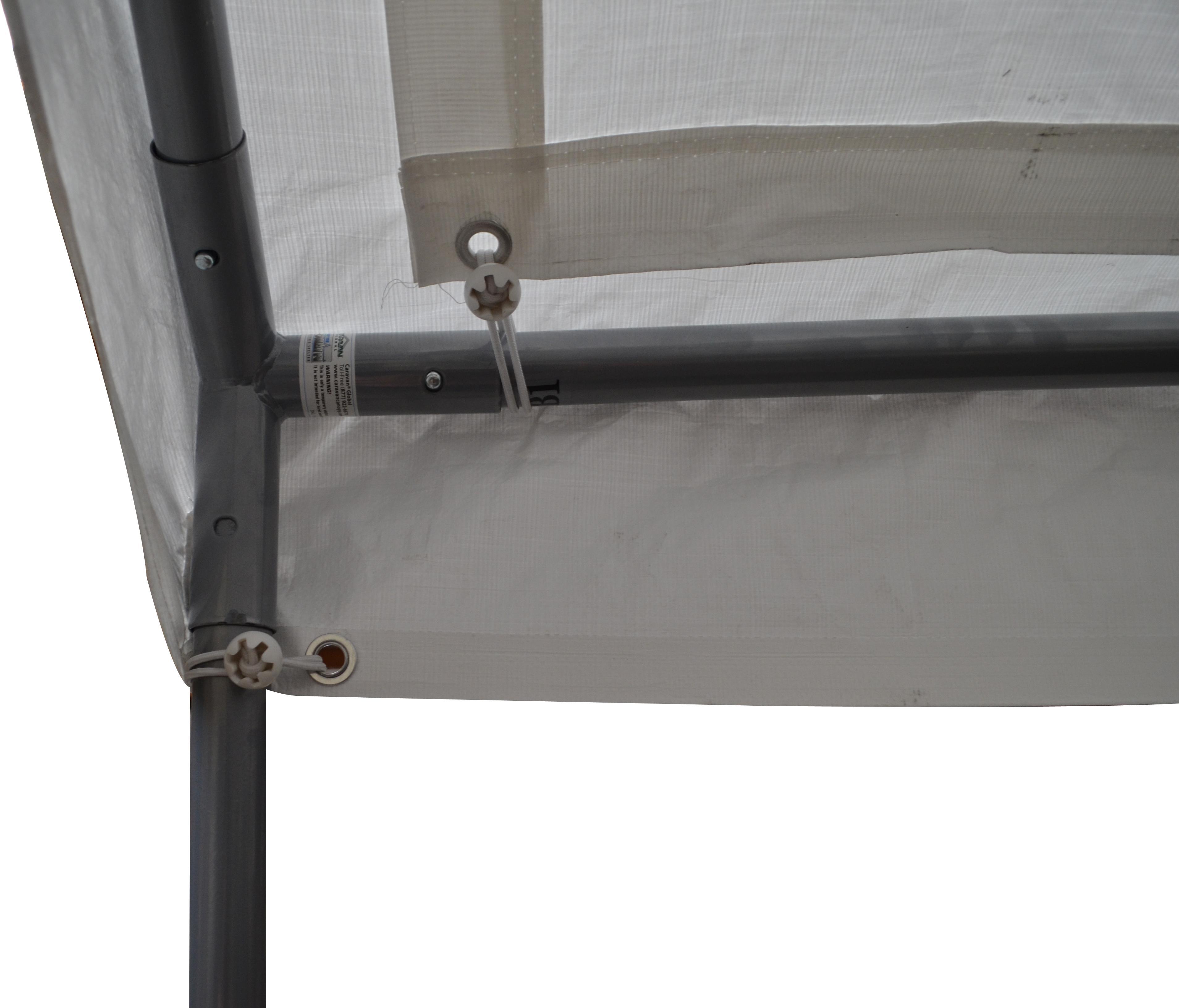Auger Anchors For Carports : Caravan canopy feet domain carport white amazon