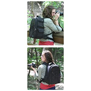 3436f7f0a22a Amazon.com : AmazonBasics Backpack for SLR/DSLR Cameras and ...