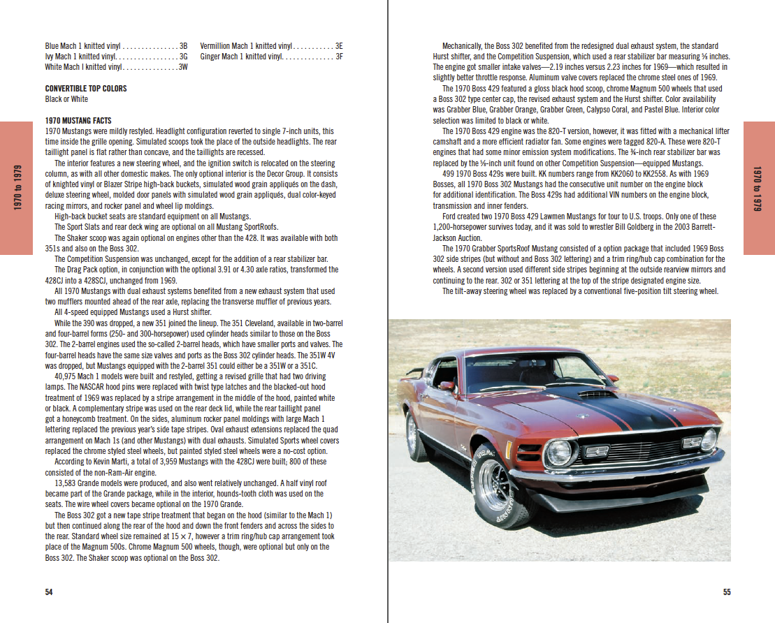 Ford Mustang Red Book 1964 1/2-2015: Specifications, Options