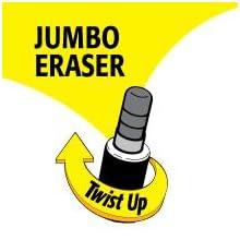 Long-Lasting Twist-Up Eraser