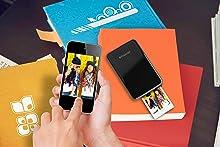 black smartphone app zip mobile printer photo
