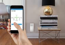 Increases the range of existing Wi-Fi signal to up to 10,000 square feet