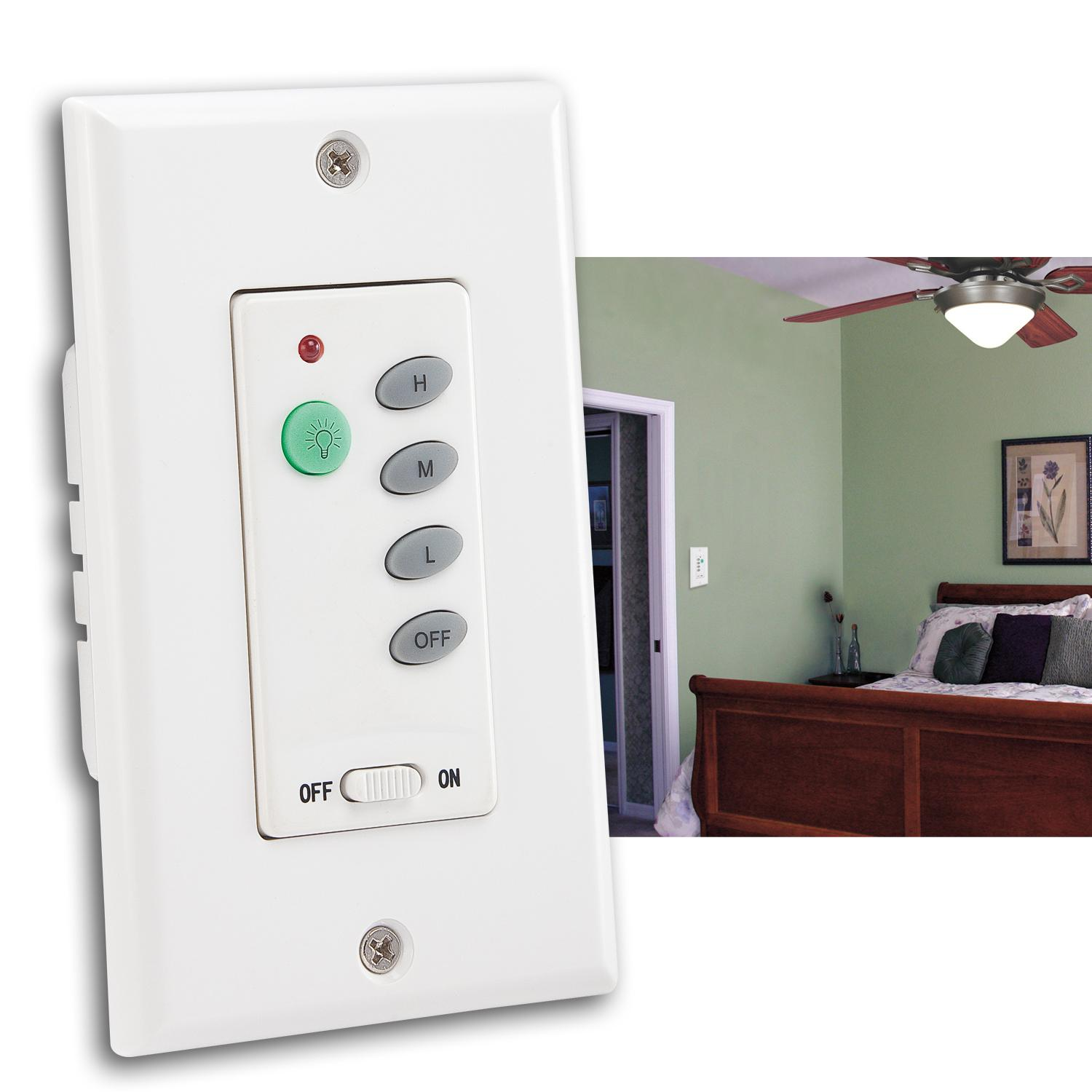 7787500 Ceiling Fan And Light Wall Control