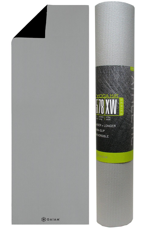 Gaiam Athletic Yoga Series dynaMAT Xtra-Large Mat Black//Gray 5mm