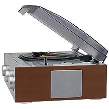 Amazon.com: Jensen estéreo de 3 velocidades Tocadiscos con ...