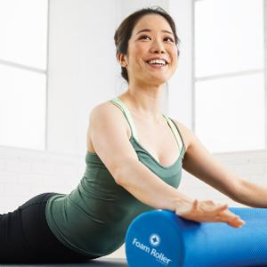 STOTT PILATES Foam Roller Soft - (Blue), 36 Inch / 92 cm