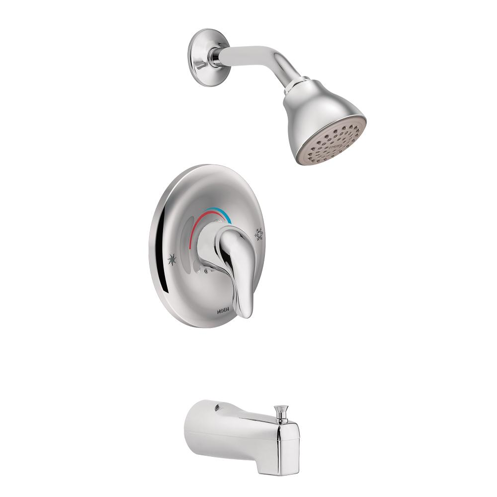 Moen Tub Shower Valve.Moen L2353 Chateau Single Handle Posi Temp Tub And Shower Faucet Valve Included Chrome