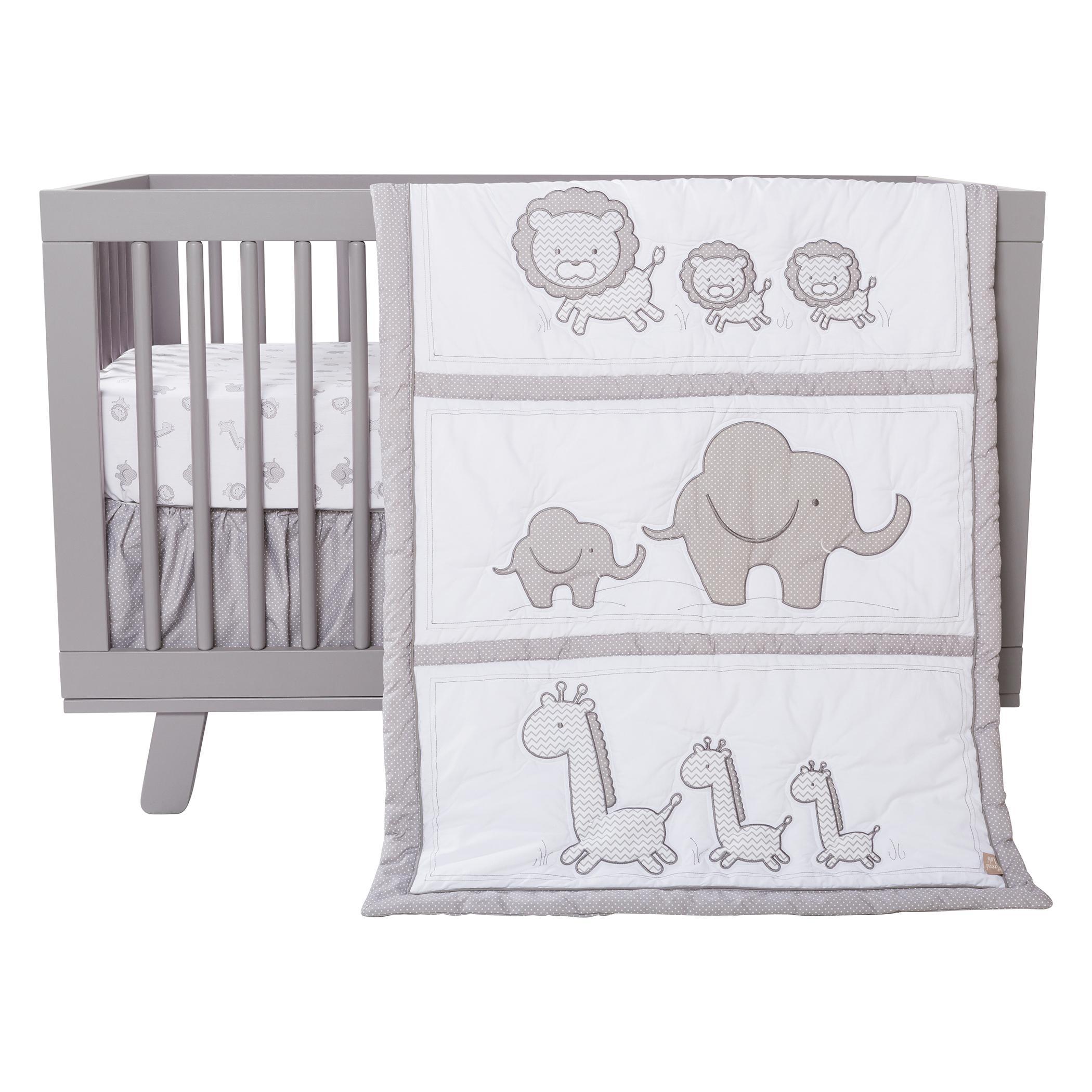 Amazon Com Trend Lab Safari Chevron 3 Piece Crib Bedding