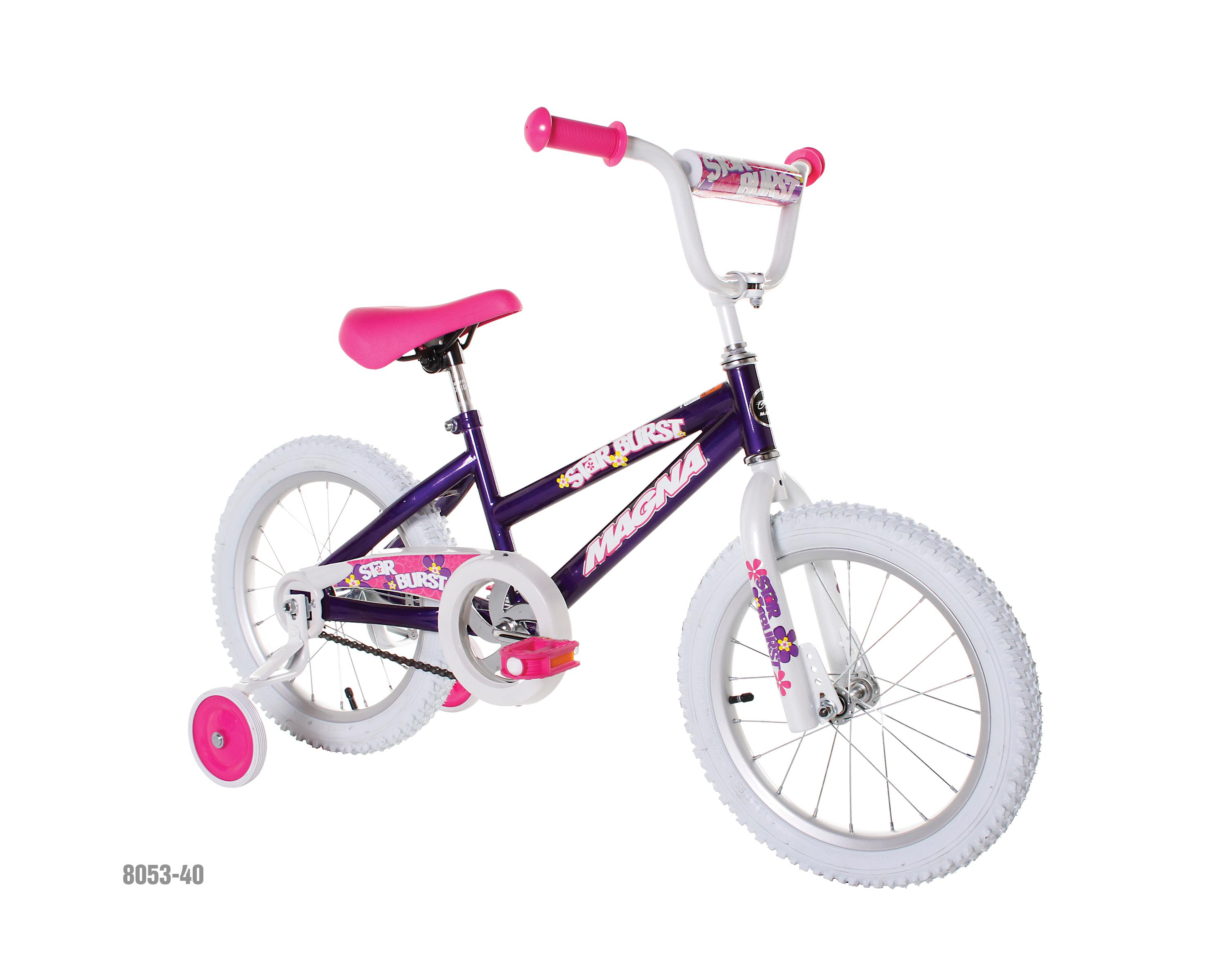 3922aad94c0 Amazon.com   Dynacraft Magna Starburst Girls BMX Street Dirt Bike 16 ...