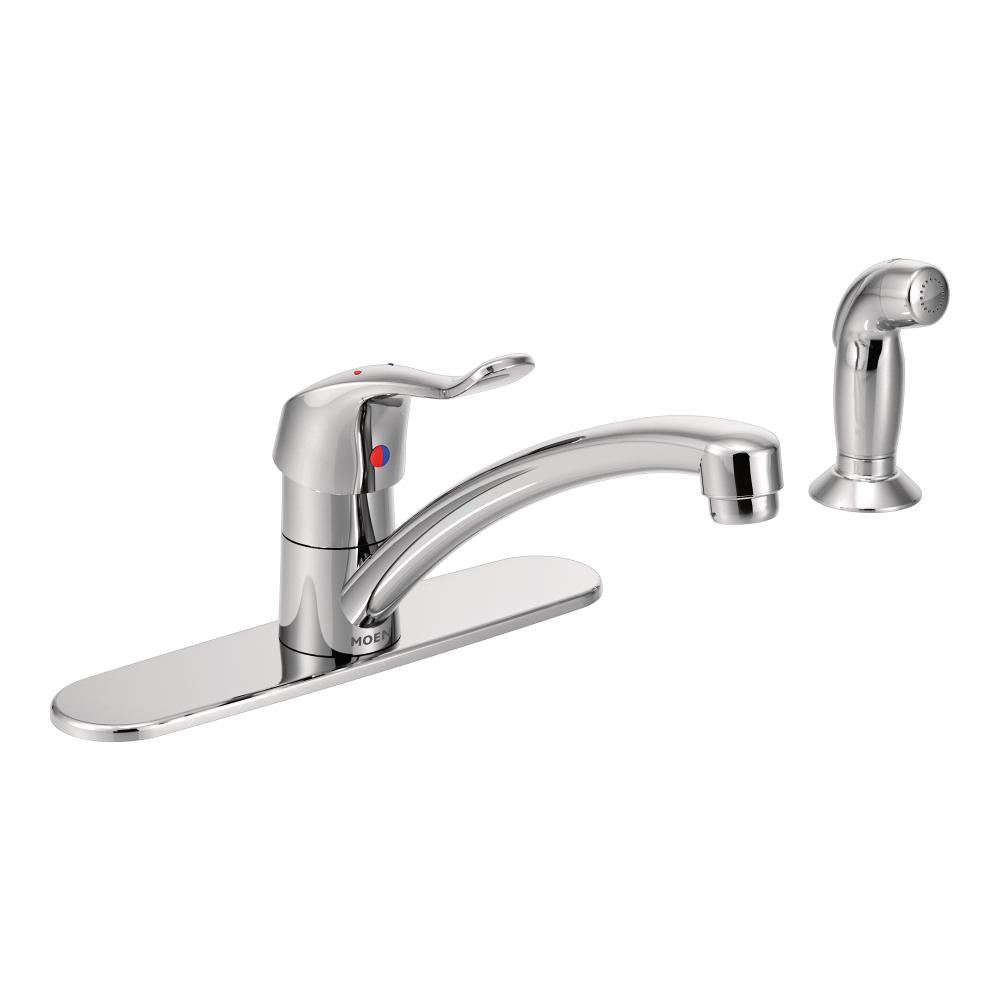 Moen 8707 Commercial M Dura One Handle Kitchen Faucet With Side