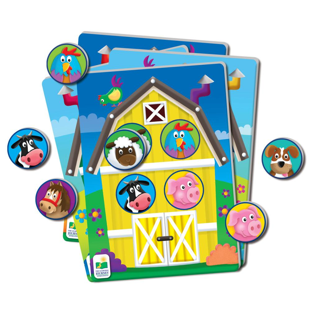 Kids will love learning about animals with this action-packed game. With the colorful farm animal theme cards and dispenser, kids will push, launch, ...