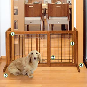 Amazon Com Richell 94135 Freestanding Pet Gate With