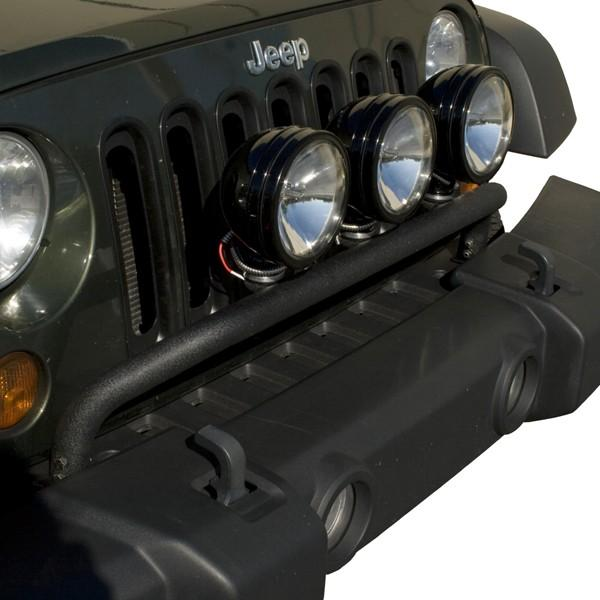 Amazon rugged ridge 1123220 textured black front bumper mount rugged ridge 1123220 textured black front bumper mount light bar aloadofball Image collections